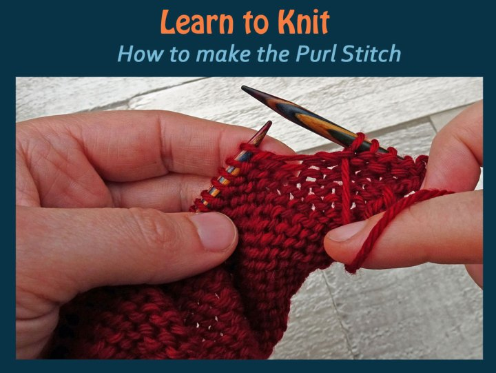 How To Knit The Purl Stitch A Photo And Video Tutorial Jo Creates