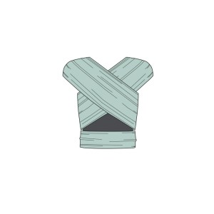 Manduca Sling rugalmas babahordozó kendő-Menta