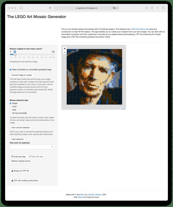 Sreenshot LEGO Art Mosaic Generator