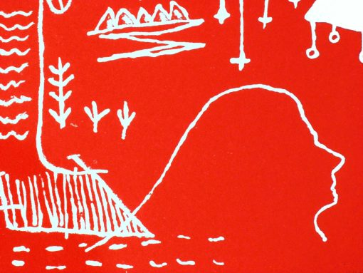 joachim sontag serigraphie toulouse ballade-rouge-silhouette