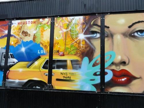 Photo of street art mural in Manhattan, taken by Joana Miranda