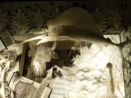 Photo of paper animals at 2011 Bergdorf Goodman Christmas window display, taken by Joana Miranda