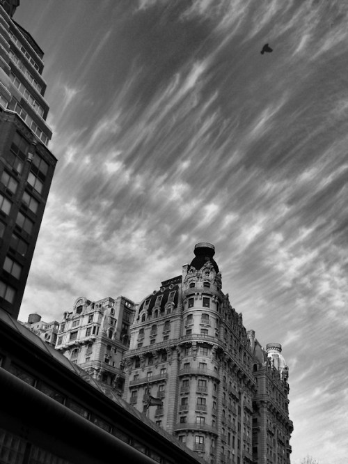 Photo of fabulous cloud formations over New York City, taken by Joana Miranda
