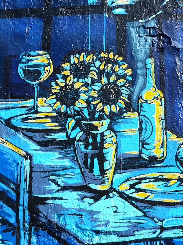 Photo of Vincent Van Gogh-inspired graffiti at 5Pointz Aerosol Center, taken by Joana Miranda