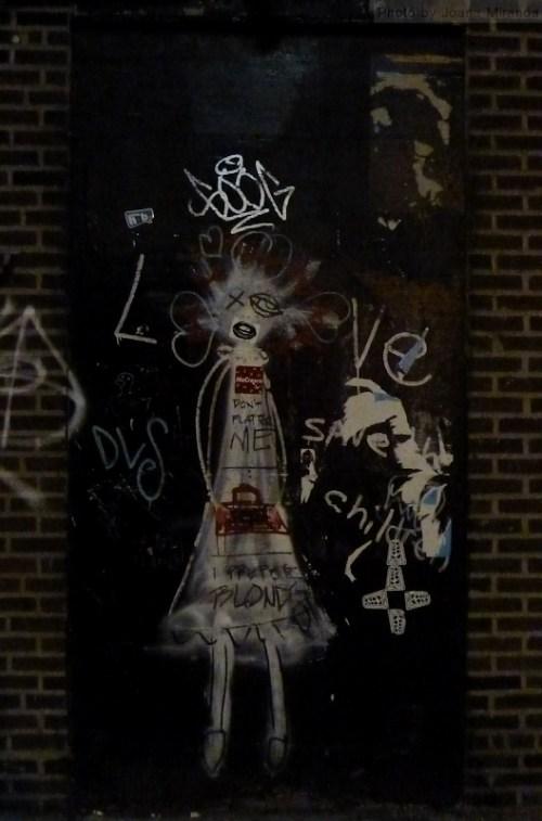 scary girl graffiti