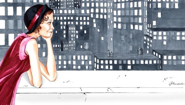 Marker and ink illustration - Love Letter to New York - by Joana Miranda