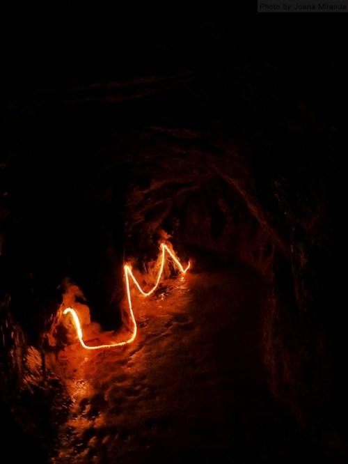 lights in tunnel at Quinta de Regaleira
