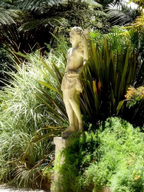 statue in gardens at Quinta Regaleira