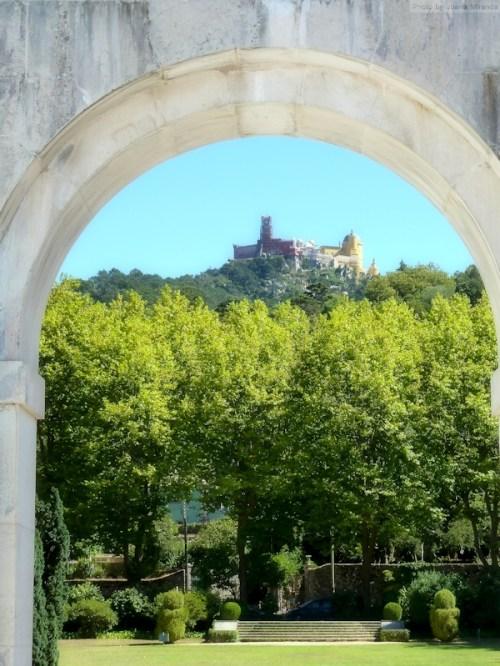 view of Palacio de Pena from Seteias