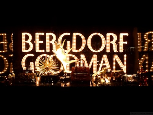 Bergdorf Goodman in lights