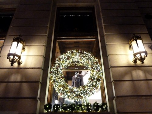 Holiday window at the Plaza Hotel in NYC