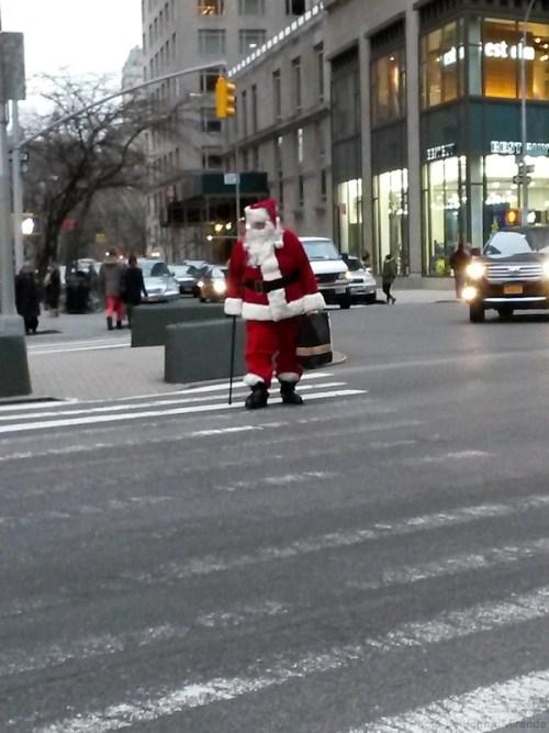 Santa in Manhattan