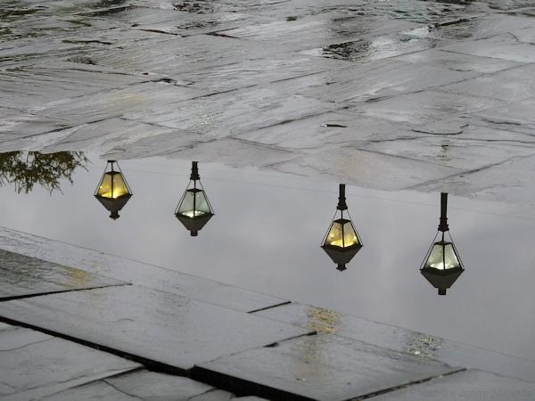 floating lantern reflection