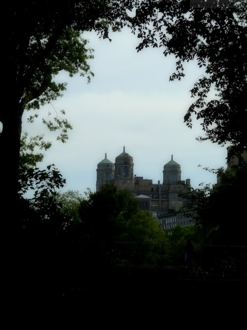 The Beresford as seen through the trees