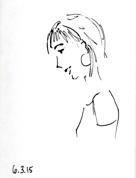 Profile view of imaginary women