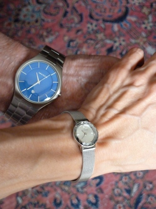 His and hers Skagen watches