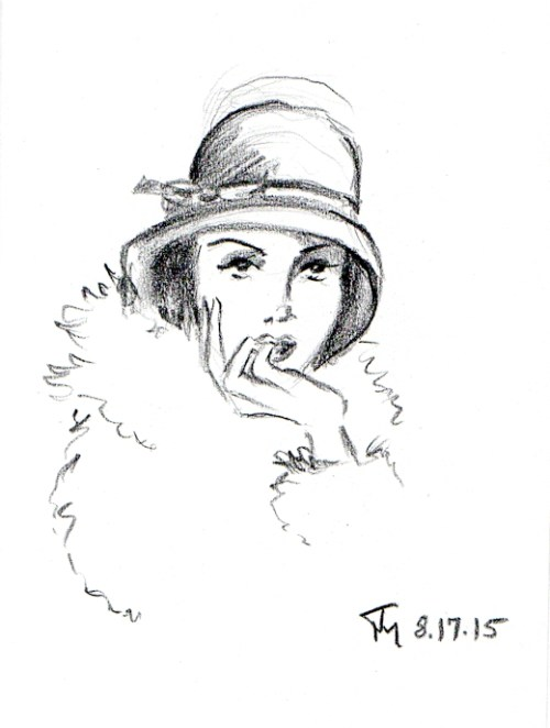 sultry flapper sketch