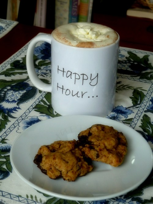 Hot chocolate and homemade cookie break