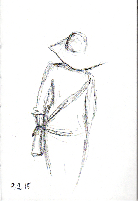 Lady in hat sketch