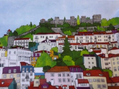 Folkloric Vista d'Alegre platter