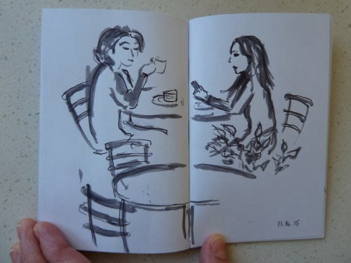 Two women at a cafe in Sydney