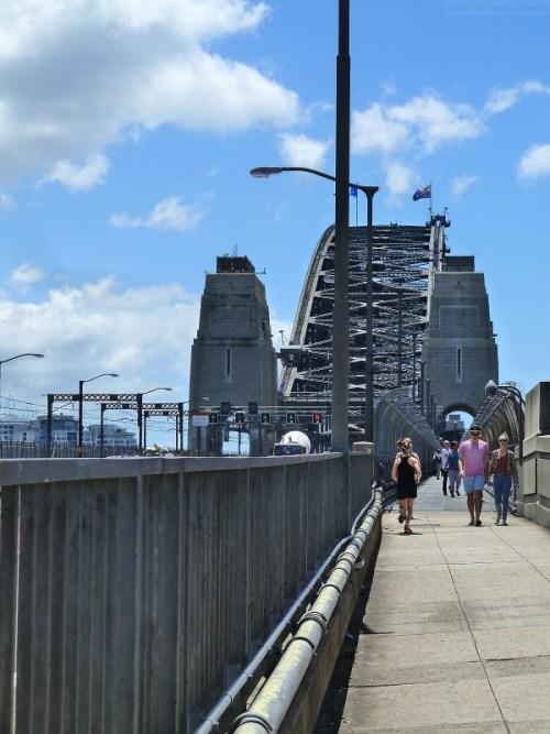 Walkers on the Sydney Harbor Bridge