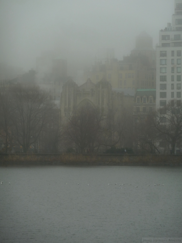 Church and Upper East Side Condos in the fog