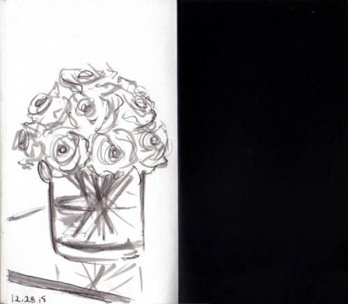 quick sketch of roses