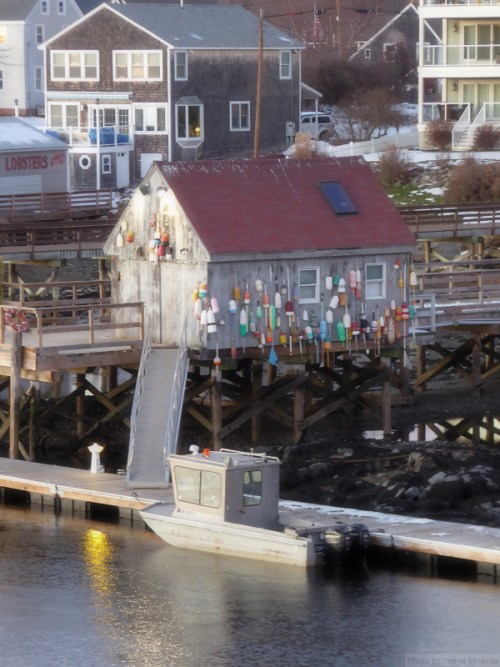 House in Kittery, Maine with lobster lures