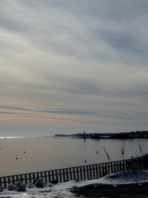 Looking out to sea in Kittery, ME