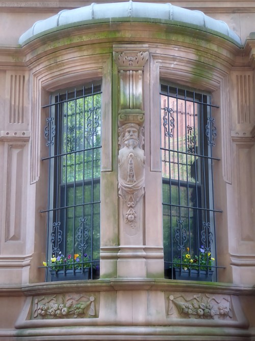 Beautiful bay window on Upper West Side brownstone