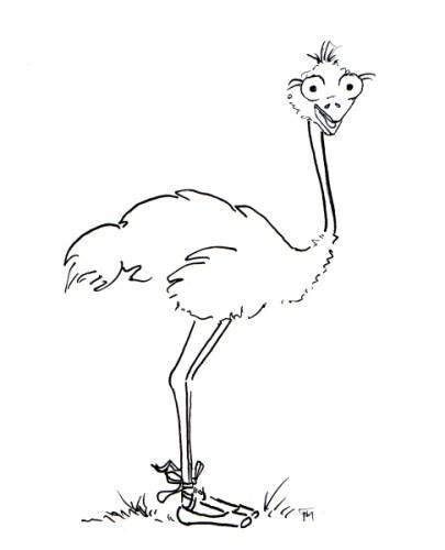 ostrich-ballerina