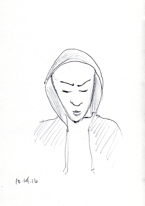 quick-sketch-of-man-with-hood