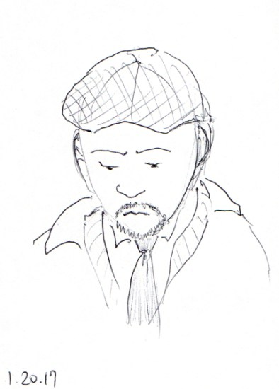 quick-sketch-of-man-with-cap-and-tie