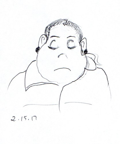 cartoon-of-woman-with-funny-shaped-head