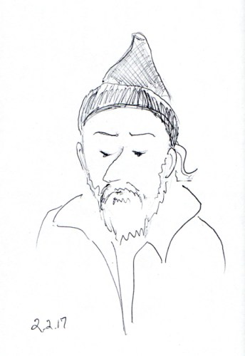 man-with-tall-knit-cap