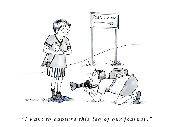 The Journey cartoon by Joana Miranda