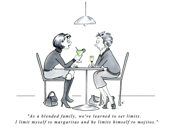 Blended family advice cartoon by Joana Miranda