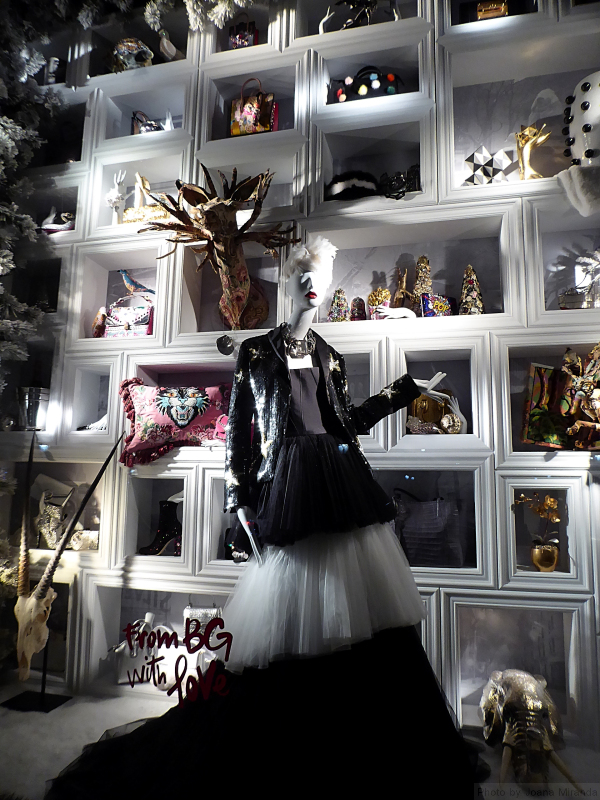 From BG with love holiday window at Bergdorf's