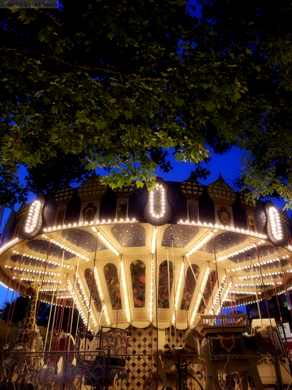 Old fashioned carousel at Tivoli Gardens