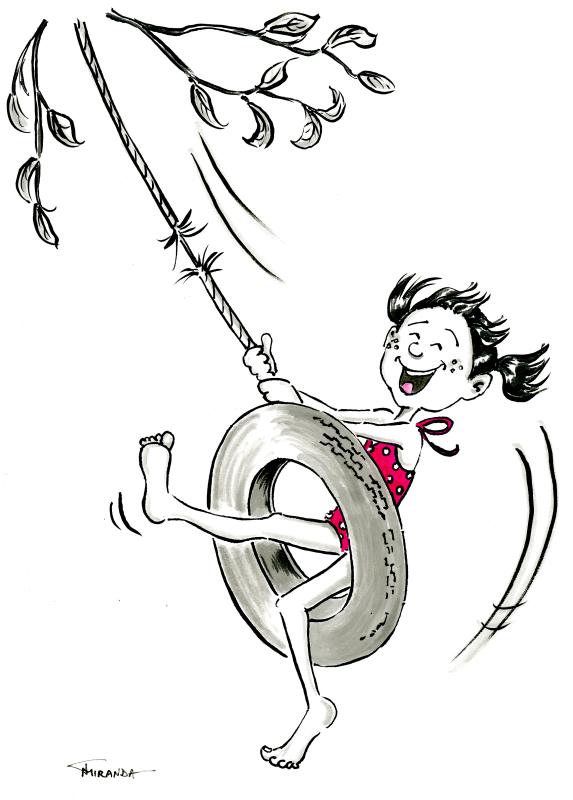 Summer Fling Cartoon Illustration by Joana Miranda