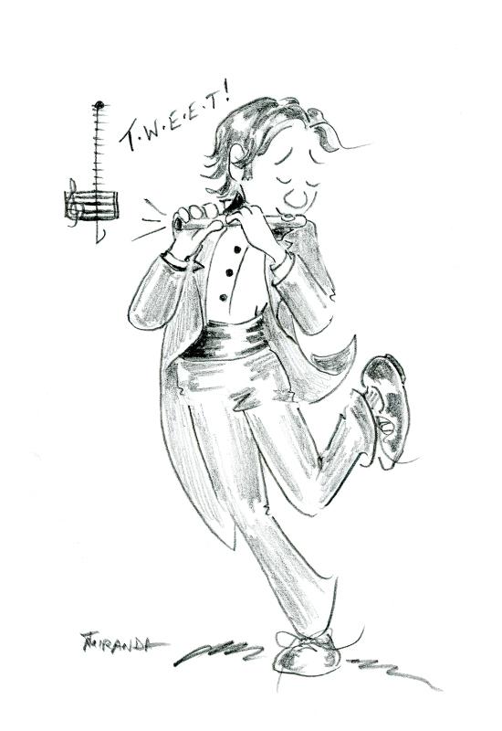 Pencil cartoon of