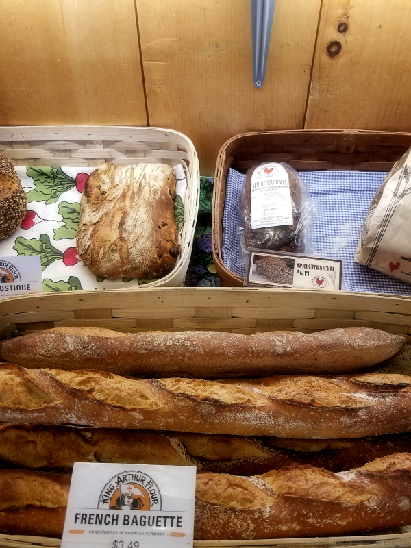 Photo of home baked breads at Vermont farm stand