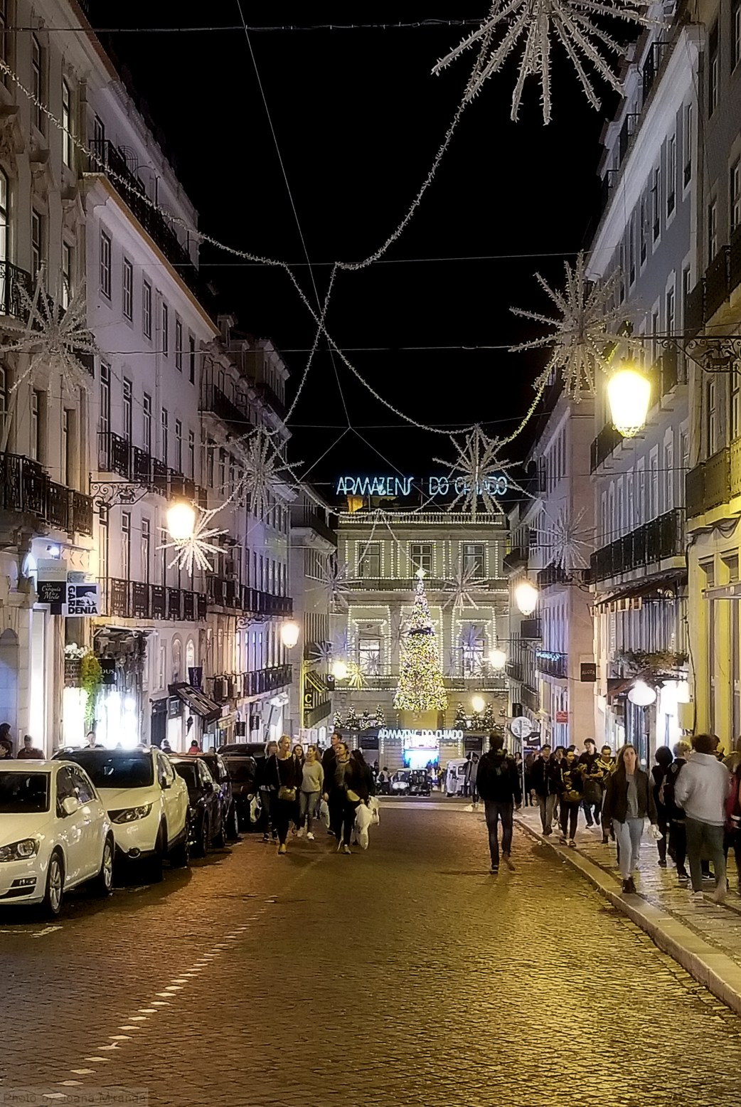 Armazens de Chiado at night