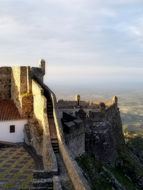 Views over the castle walls of Marvao, Portugal