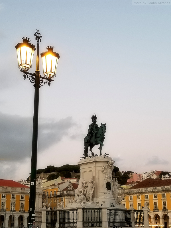 Praco do Commercio in Lisbon Portugal at dusk