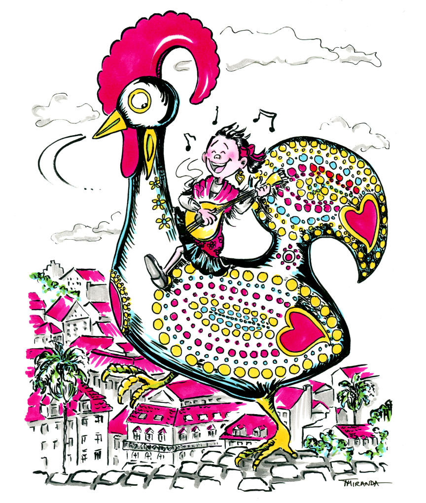 Marker and ink folkloric children's book illustrations by Joana Miranda