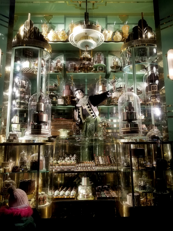Photo of Viennese Pastry Shop window at 2018 Bergdorf Goodman holiday window displays