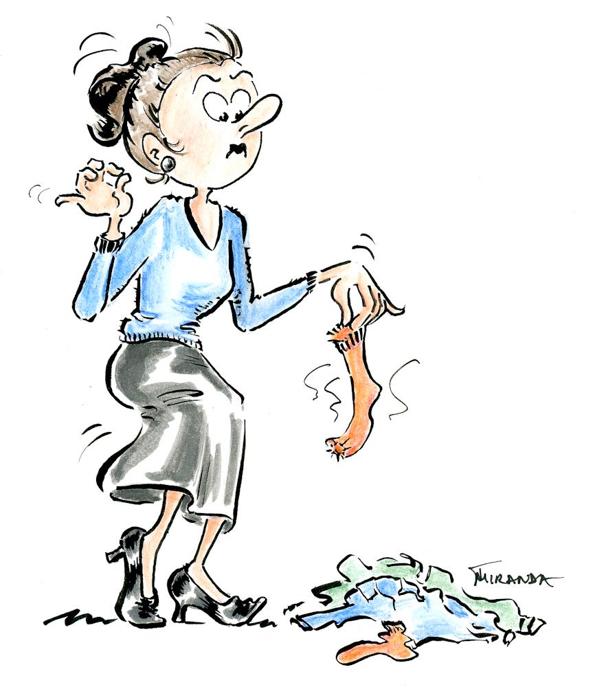 Funny housewife cartoon by Joana Miranda