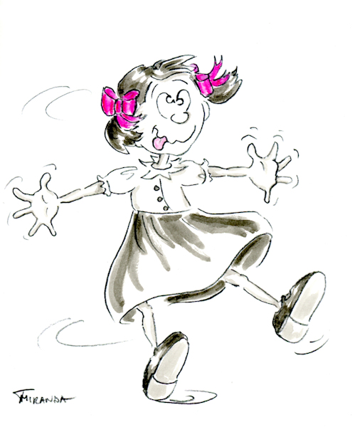 Little Jo Twirls cartoon by Joana Miranda